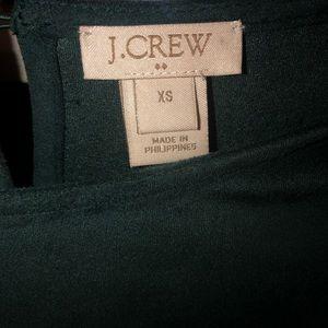 J.CREW green velvet top